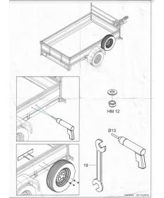 Support de roue de secours